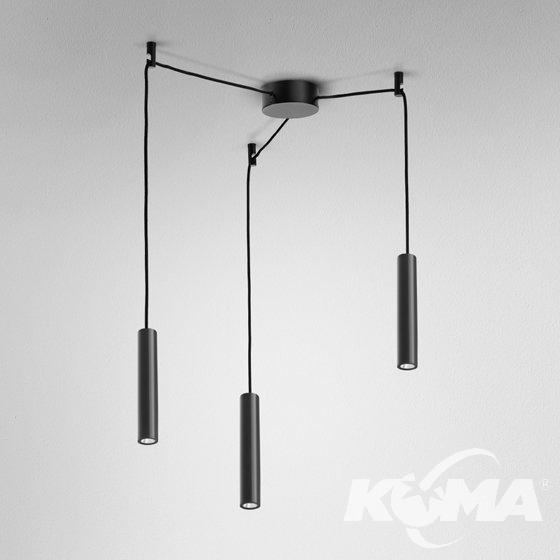 mini lampa wisząca czarna Pet AQFORM