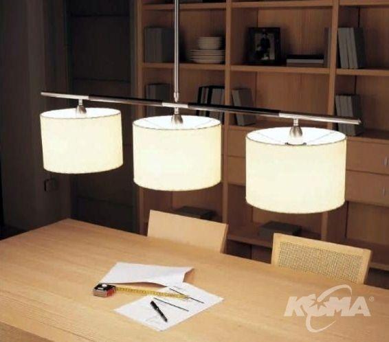 Danona 3 luces oprawa wiszaca 3x100W E27 ciemny braz bawelna