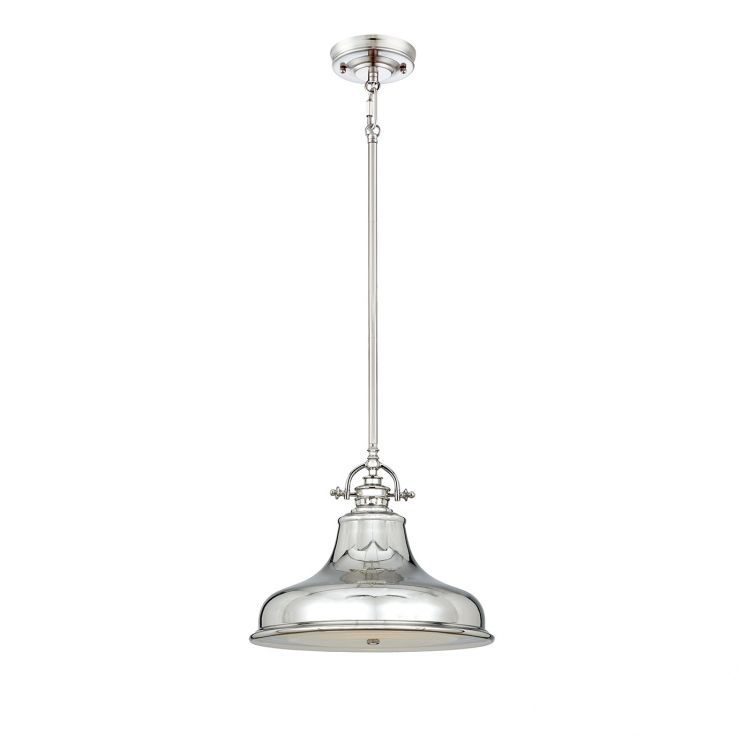 Lampa wisząca emery 1 x100W E27 srebrna