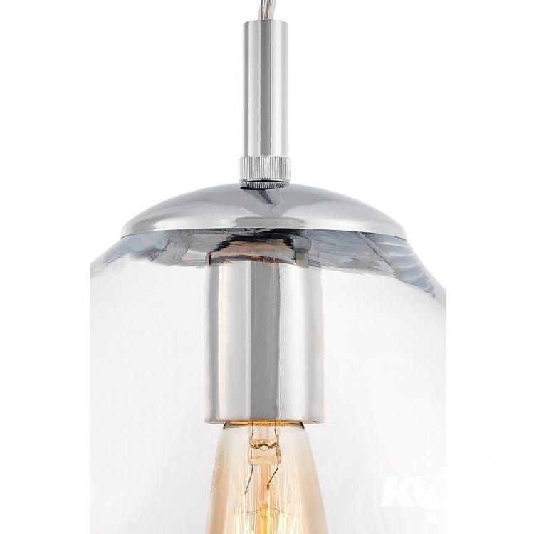 Avia S lampa wisząca 1x60W E27 230V transparentne szkło + chromowane elementy
