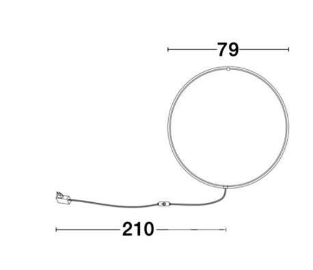 kinkiet ścienny czarny Ring