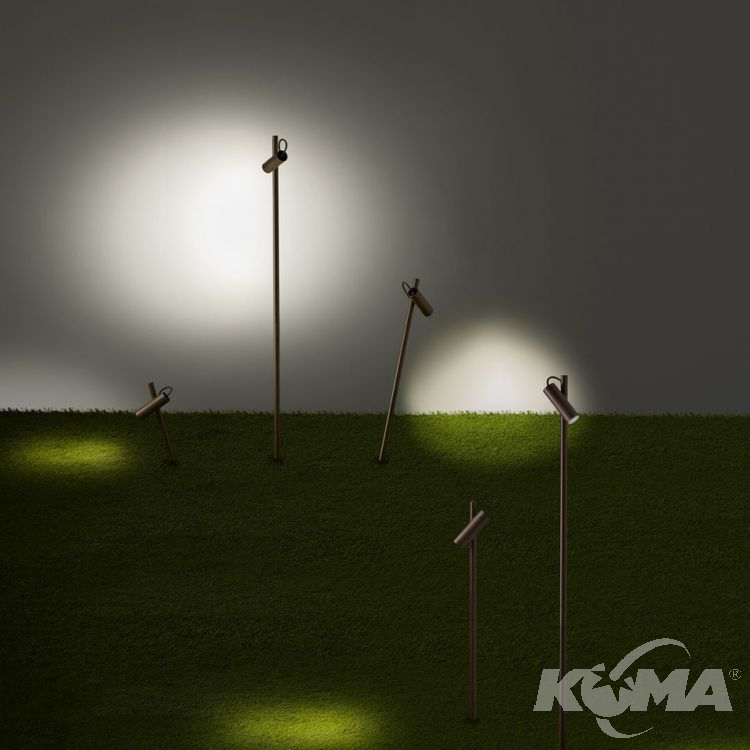 słupki oświetlenie ogrodowe brąz Juncus LEDS C4