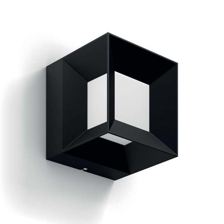Parterre kinkiet zewnętrzny 8W LED 230V czarny