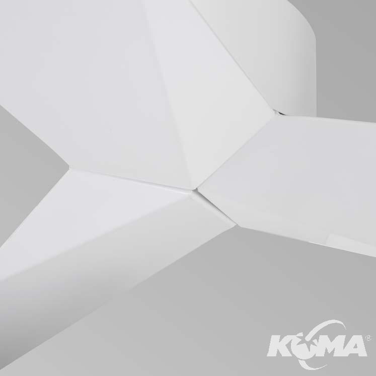 Lace wentylator sufitowy 106,4cm matowa biel