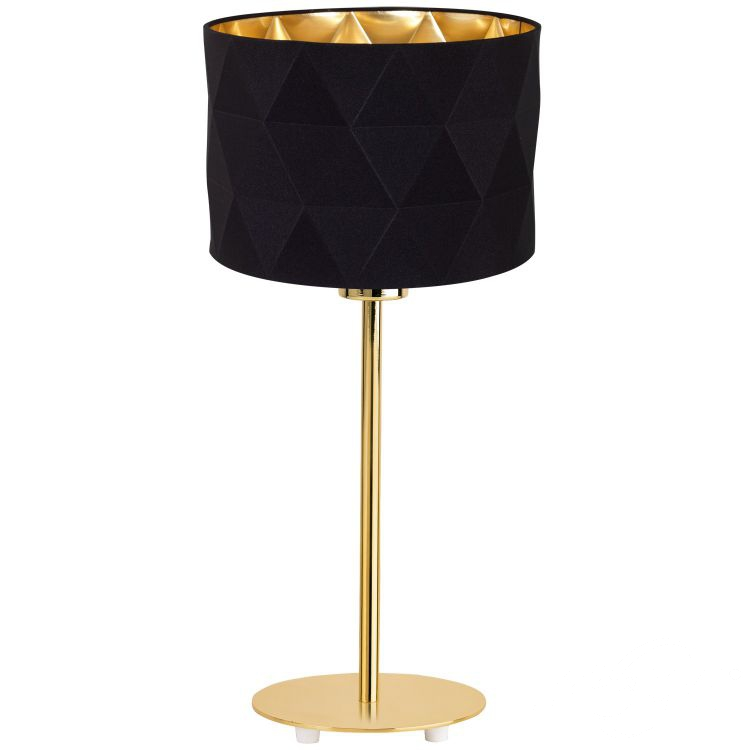 Dolorita lampa stołowa 1x60W E27 230V czarno-złota