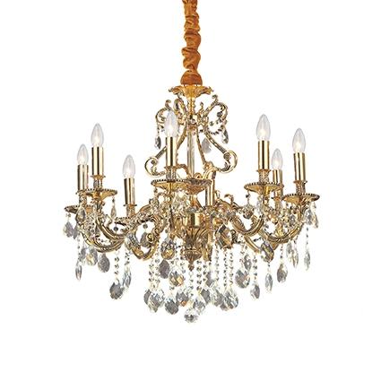 Gioconda żyrandol lampa wisząca 8x40W E14 230V złota