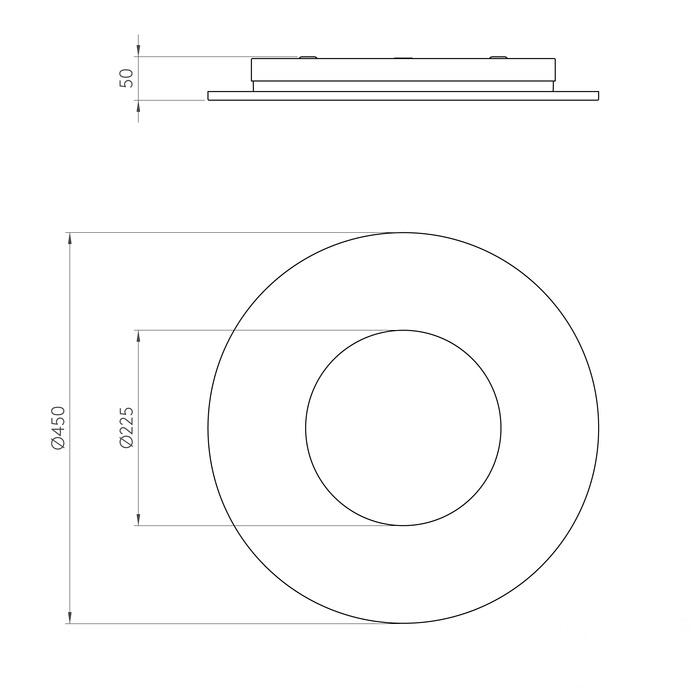 Round plafon Zero ASTRO