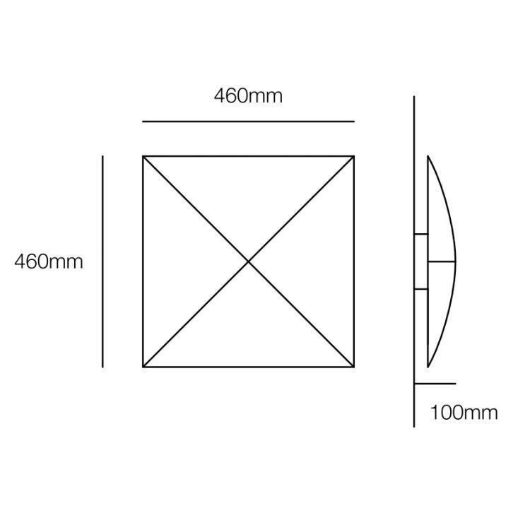 Quadro plafon 3x23W E27 230V