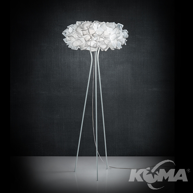 CLIZIA lampa podłogowa 3x20W E27 h155cm biały
