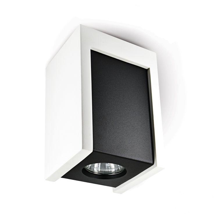 Lindo oprawa sufitowa 1x25W GU10 230V biały/czarny