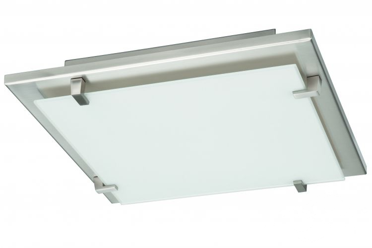 Adria plafon 2x23W E27 32x32 NICKEL-MAT