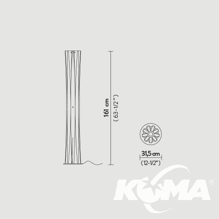XL lampa podłogowa Bach SLAMP