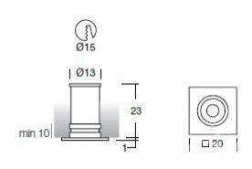 Aspho 1 led 350 ma 1W 70st IP44 chrom, biala ciepla