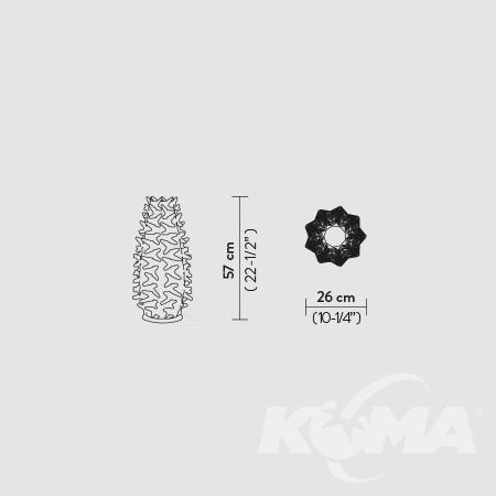 Cactus M lampa stołowa 1x5W E14 230V biała/złota