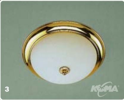 Plafon old lamp E27 2x60W 35cm gold/opal-matt