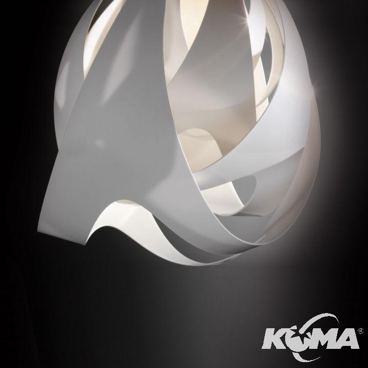 Goccia lampa wisząca 1x10W E27 230V snow