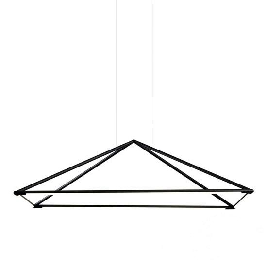Tubs lampa wisząca 48W LED 3000K 230V matowa czerń