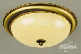 Plafon old lamp E27 3x60W 47cm patina/champ