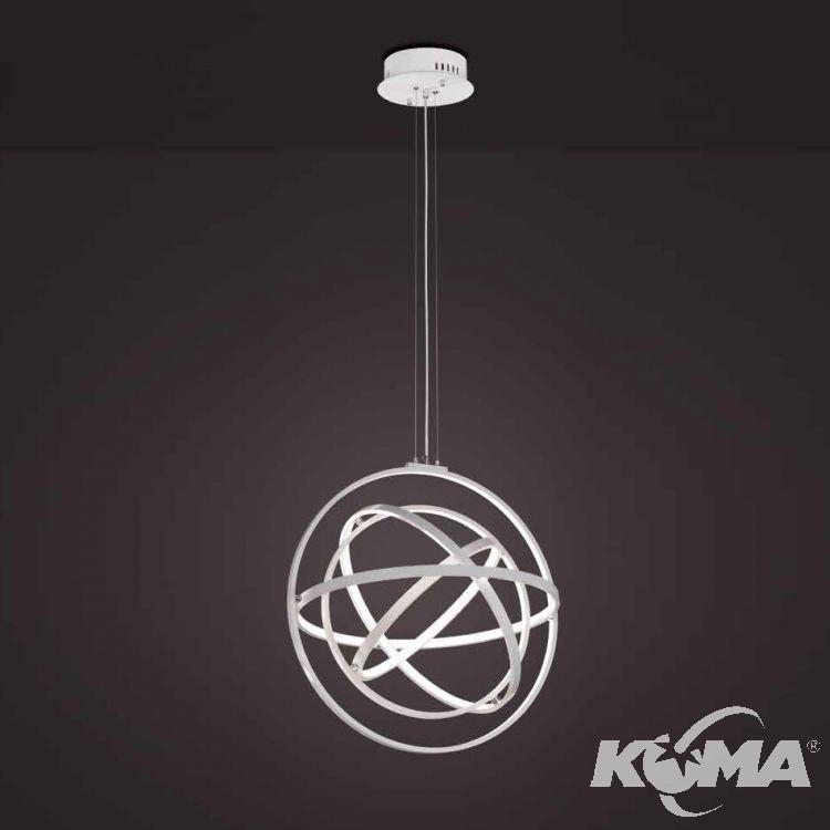 Orbital lampa wisząca + pilot ściemniający 90W LED 3000K 230V biała
