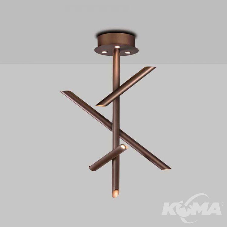Take lampa sufitowa 30W LED 3000K 230V brązowa