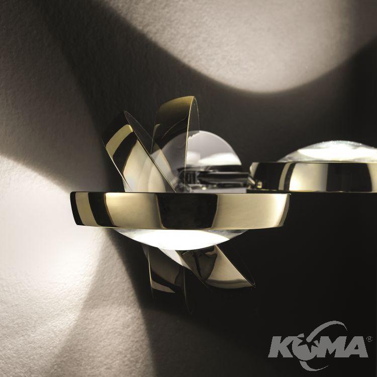 Nautilus kinkiet 2x15W LED 2700K 230V złoty