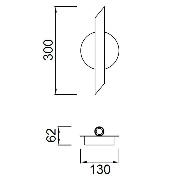 Take kinkiet 6W LED 3000K 230V biały