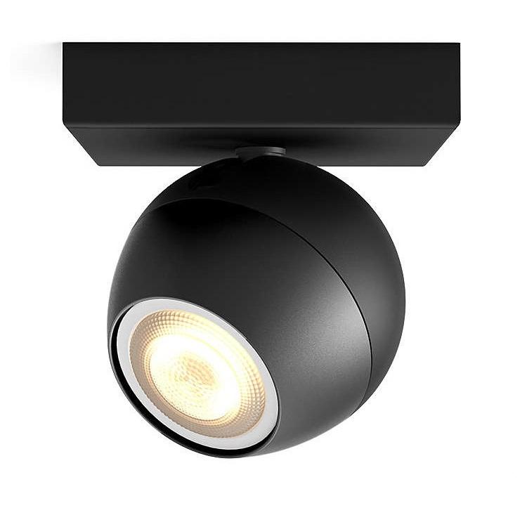 Buckram Hue reflektor-spot 1x10W GU10 230V czarny + żarówka LED