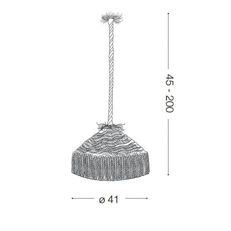 Canapa SP1 lampa wisząca 1x15W E27 230V