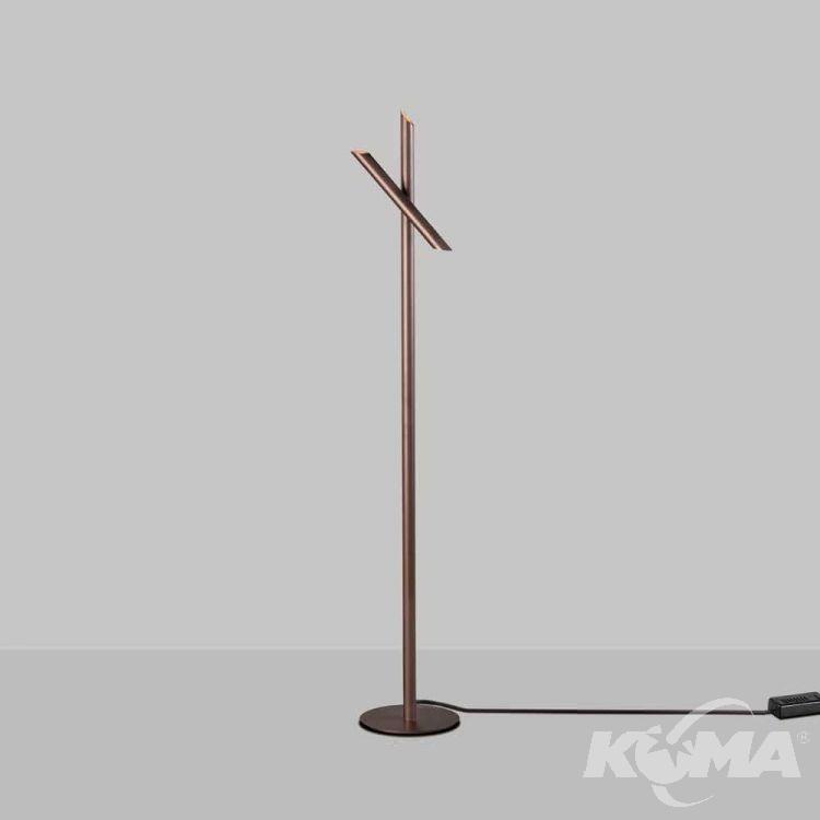 Take lampa podłogowa 9W LED 3000K 230V brązowa