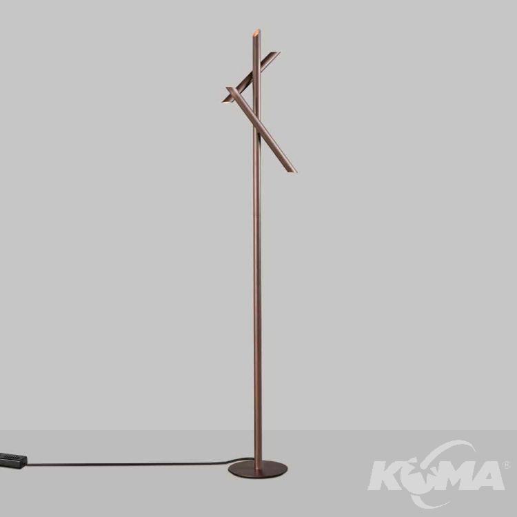 Take lampa podłogowa 15W LED 3000K 230V brązowa