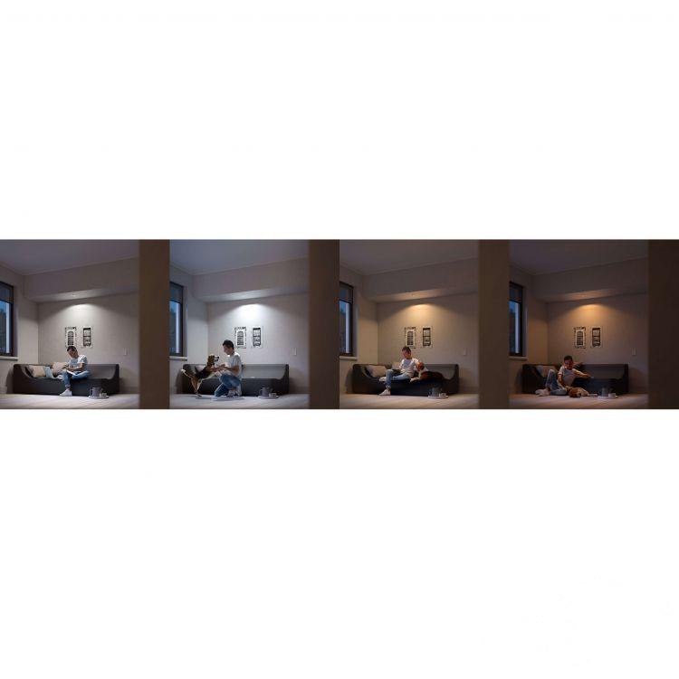 Milliskin Hue oprawa wpuszczana 1x6,5W GU10 230V aluminium + żarówka LED + ściemniacz