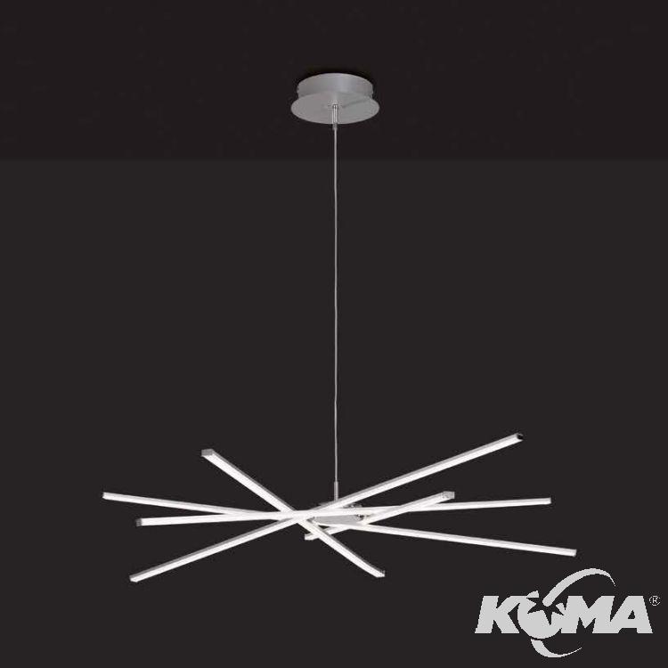 Aire lampa wisząca 60W LED 3000K 230V srebrna/chrom DIMMABLE
