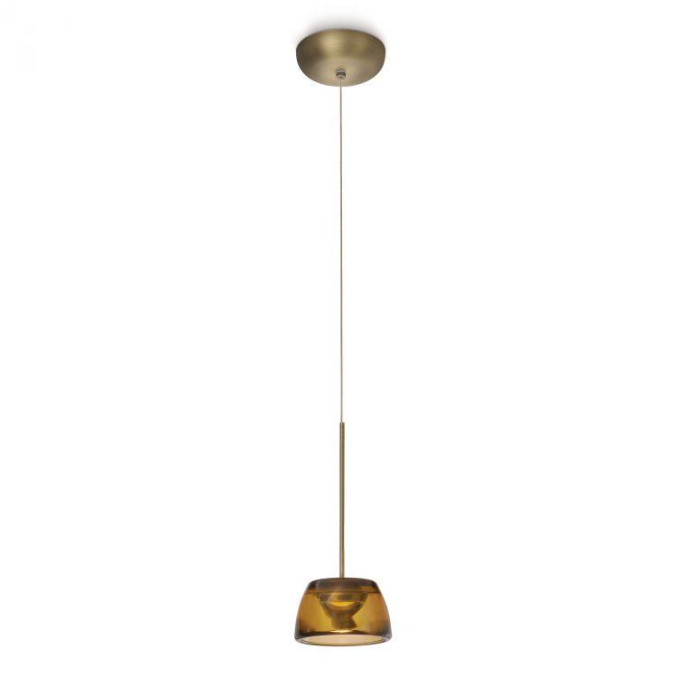 Clario lampa wisząca 7,5W LED 230V brązowa