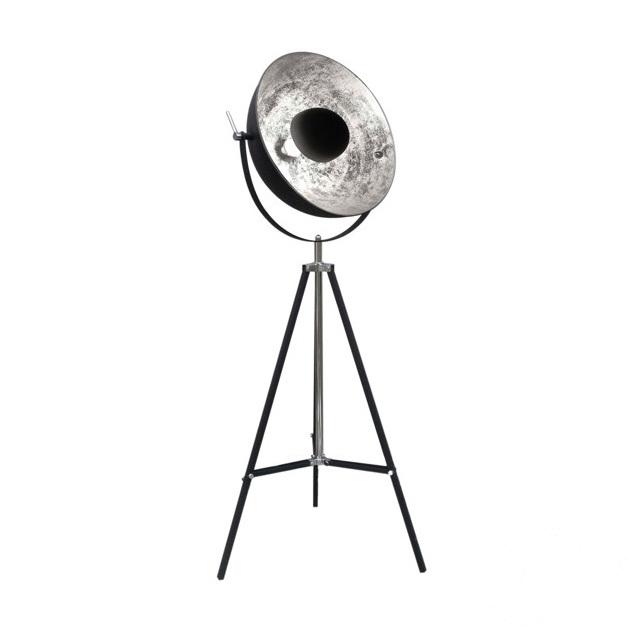 Antenne lampa podłogowa 1x60W E27 230V czarna / srebrny środek