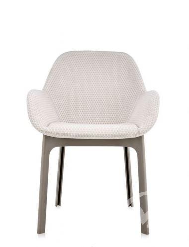 fotel z obiciem turkawkowo-beżowy Clap KARTELL