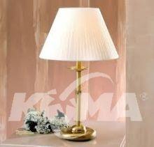 Model 127PE lampka stołowa 1x28W E27 mosiądz antyczny/abażur plisa