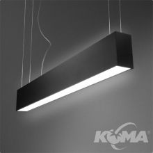 Set Tru lampa wisząca 120cm 2x54W G5 230V czarna (mat)