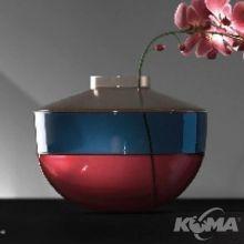 Shibuya wazon d27cm bezowy-niebieski-wisniowy