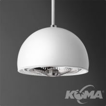 Glob lampa wisząca biała (mat) 1x50W AR111 230V