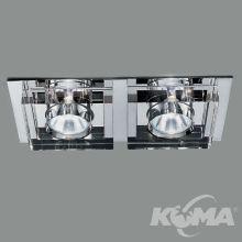 Oprawa wpuszczana 2x50W MR16 12V chrom/transparentna
