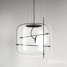 Plot_SP lampa wisząca szkło transparentne 11,5W LED 2700-3000K czarna