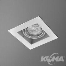 Squares lampa wpuszczana 1x50W GU10 230V biała (mat)