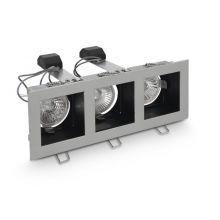 Aspro oprawa wpuszczana 3x50W MR16 12V srebrna mat