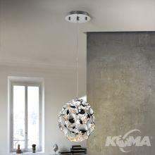 Narisa lampa wisząca 1x60W E27 230V chrom