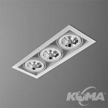 Squares lampa wpuszczana 3x100W AR111 G53 12V czarny (mat)