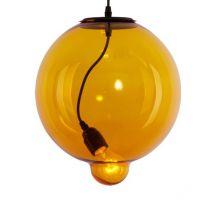 Moder lampa wisząca 1x60W E27 230V bursztynowa