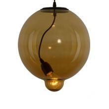 Moder lampa wisząca 1x60W E27 230V koniak