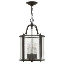 Lampa wisząca gentry 4x60W E14 brąz postarzany