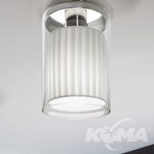 Oliver lampa sufitowa plafon 1x15W E27 230V biały/transparentny