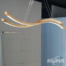 Libe lampa wisząca 2x43,2W LED 3000K 230V naturalny dąb